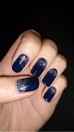 Sweet Blue Nails Ideas that Make Cool and Calm Appearance 82