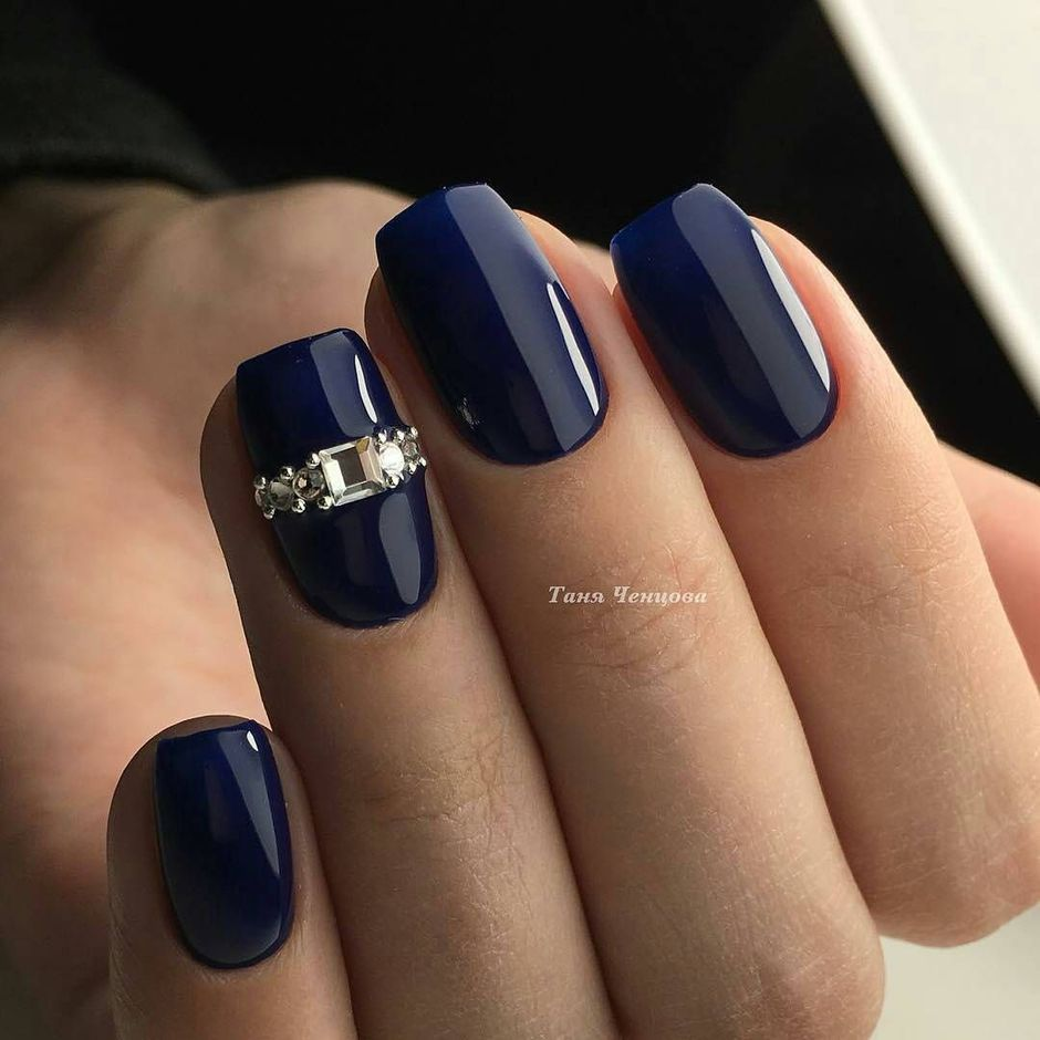 Sweet Blue Nails Ideas that Make Cool and Calm Appearance 84