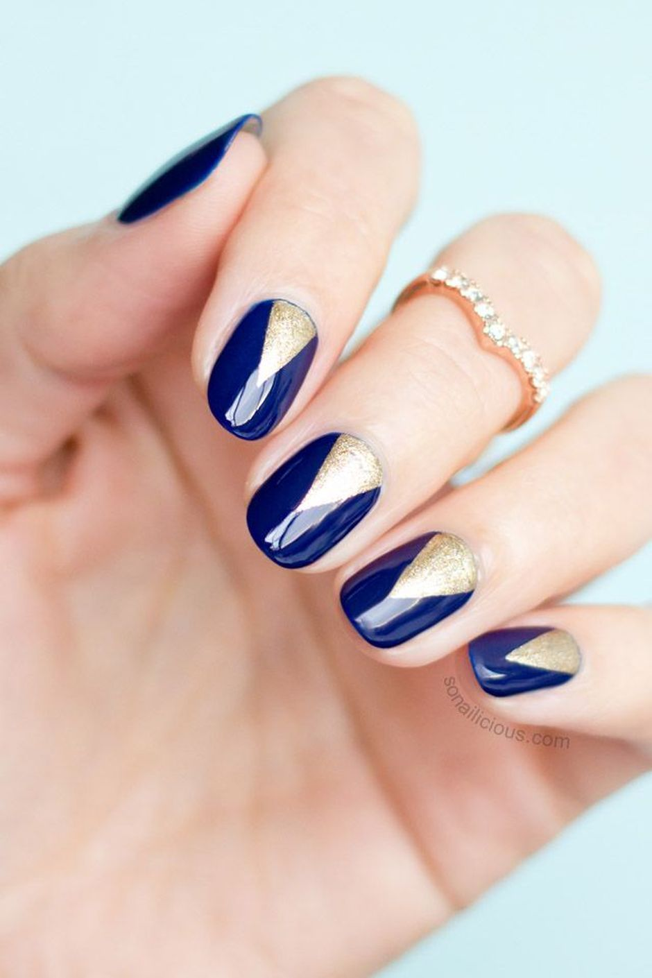 Sweet Blue Nails Ideas that Make Cool and Calm Appearance 9