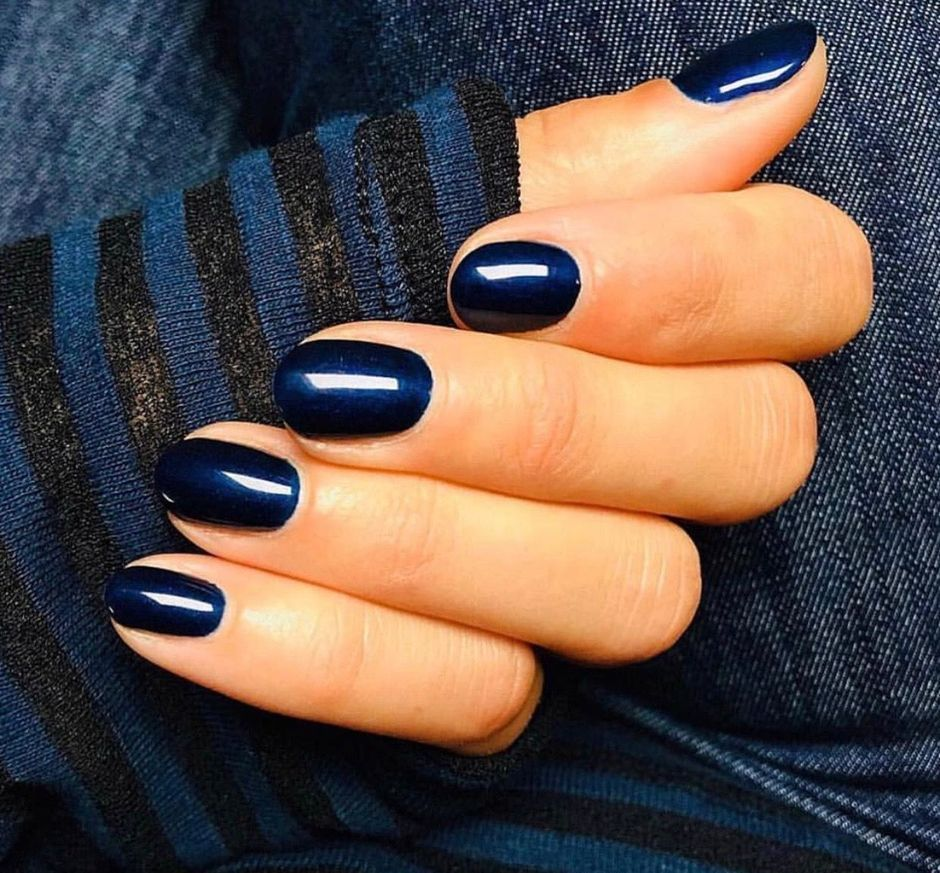 Sweet Blue Nails Ideas that Make Cool and Calm Appearance 90