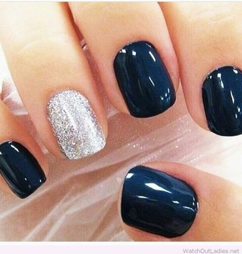 Sweet Blue Nails Ideas that Make Cool and Calm Appearance 92