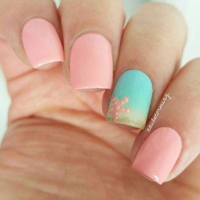 Best Colorful and Stylish Summer Nails Ideas 57