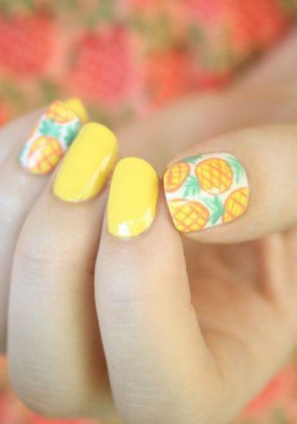 Best Colorful and Stylish Summer Nails Ideas 61