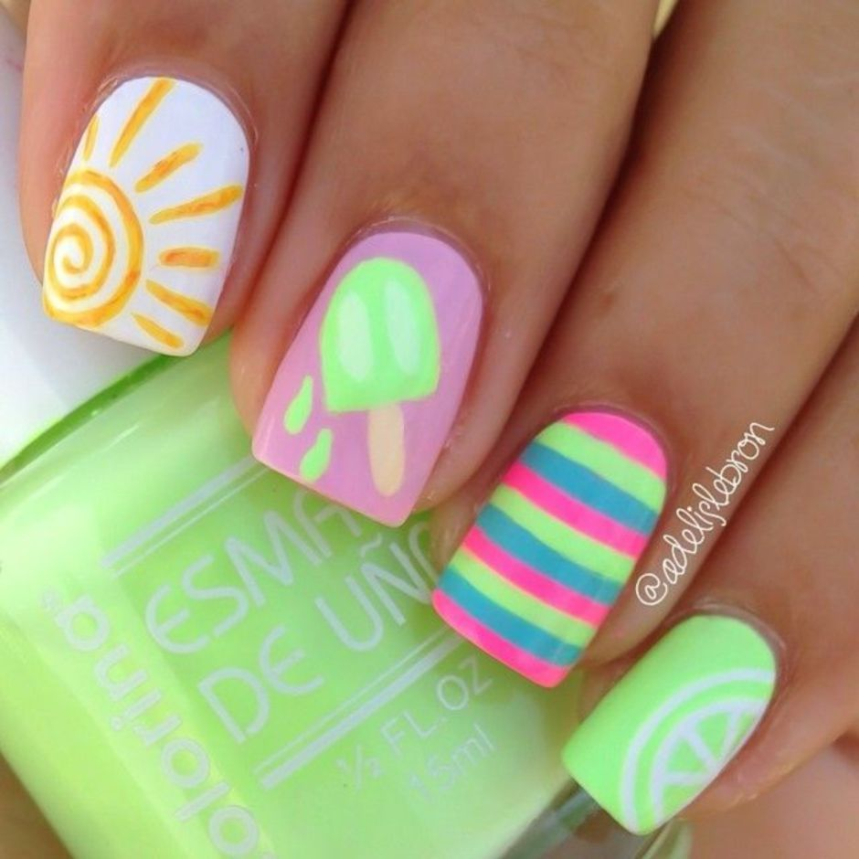 Best Colorful and Stylish Summer Nails Ideas 63