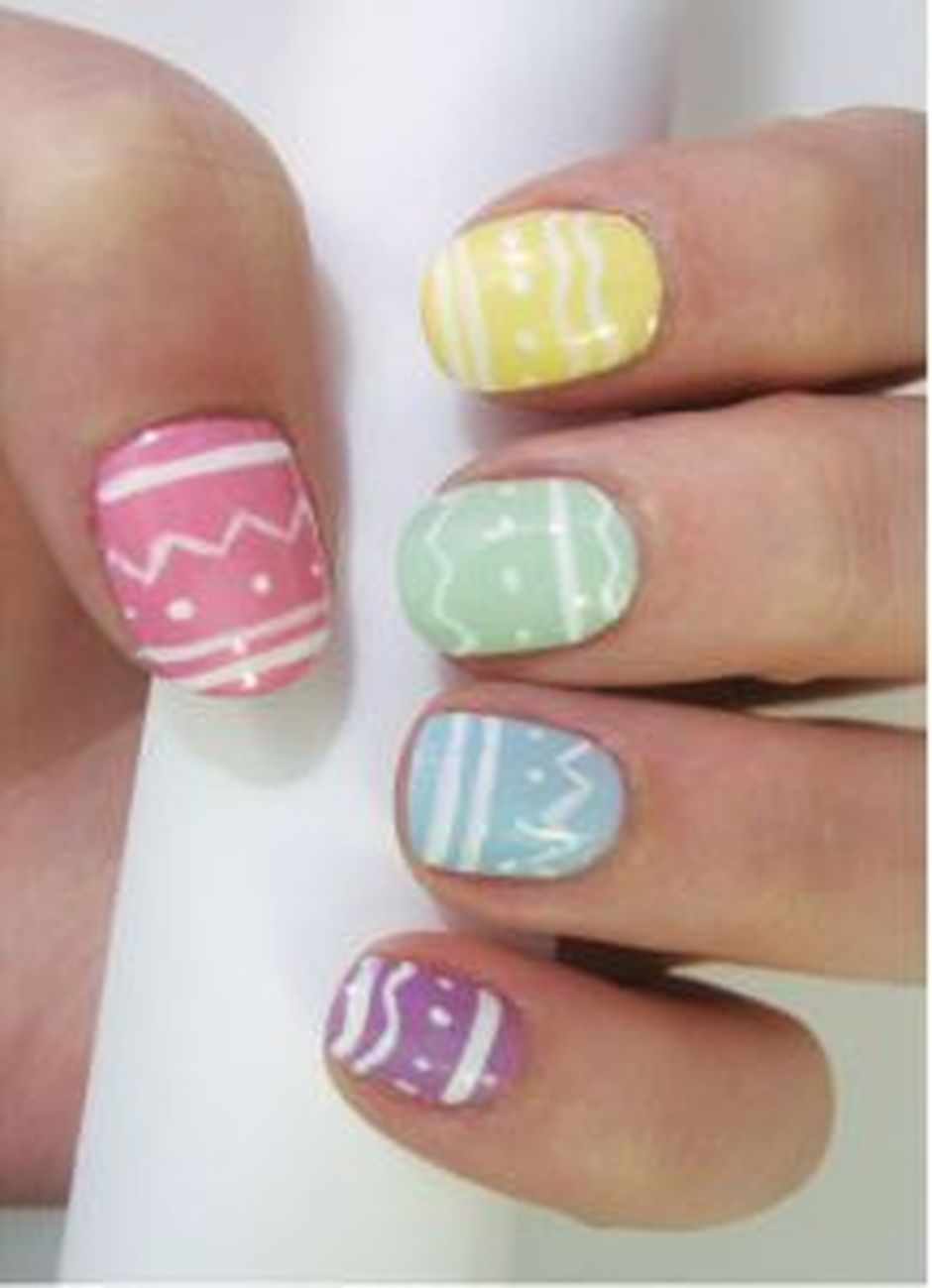 Cute and Easy Easter Nail Art Design Ideas 11