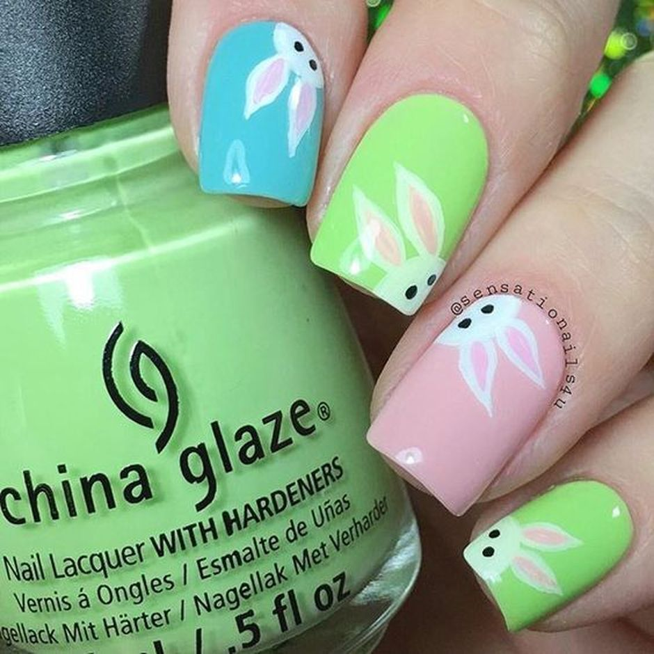 Cute and Easy Easter Nail Art Design Ideas 16