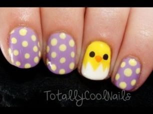 Cute and Easy Easter Nail Art Design Ideas 21