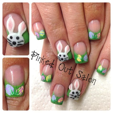 Cute and Easy Easter Nail Art Design Ideas 31
