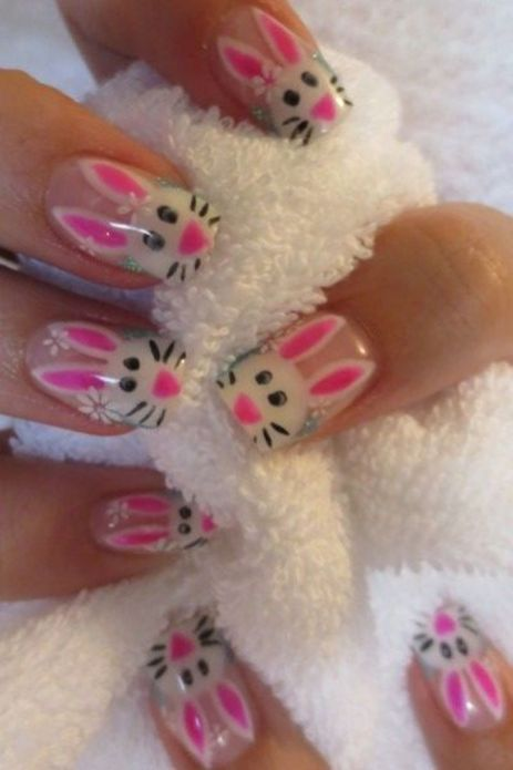 Cute and Easy Easter Nail Art Design Ideas 38