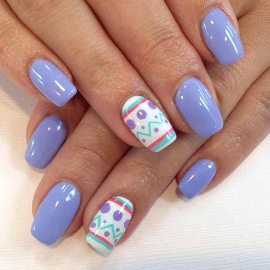 Cute and Easy Easter Nail Art Design Ideas 42