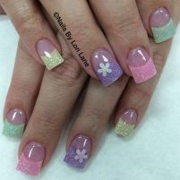 Cute and Easy Easter Nail Art Design Ideas 45