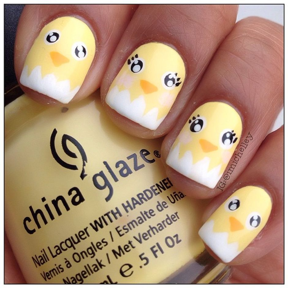 Cute and Easy Easter Nail Art Design Ideas 50