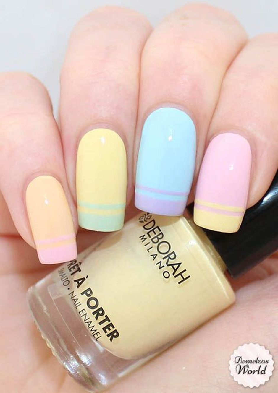 Cute and Easy Easter Nail Art Design Ideas 54