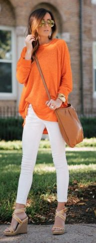 55 Orange Outfit Ideas That Make You Look Young and Fresh 14