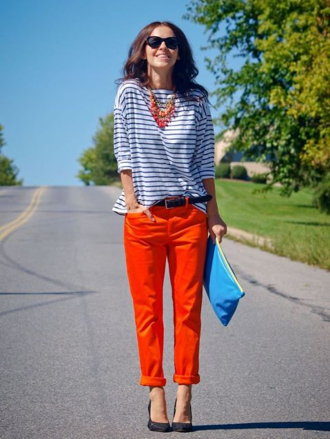 55 Orange Outfit Ideas That Make You Look Young and Fresh 19