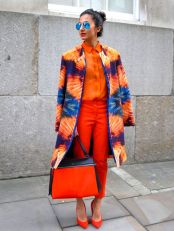 55 Orange Outfit Ideas That Make You Look Young and Fresh 34