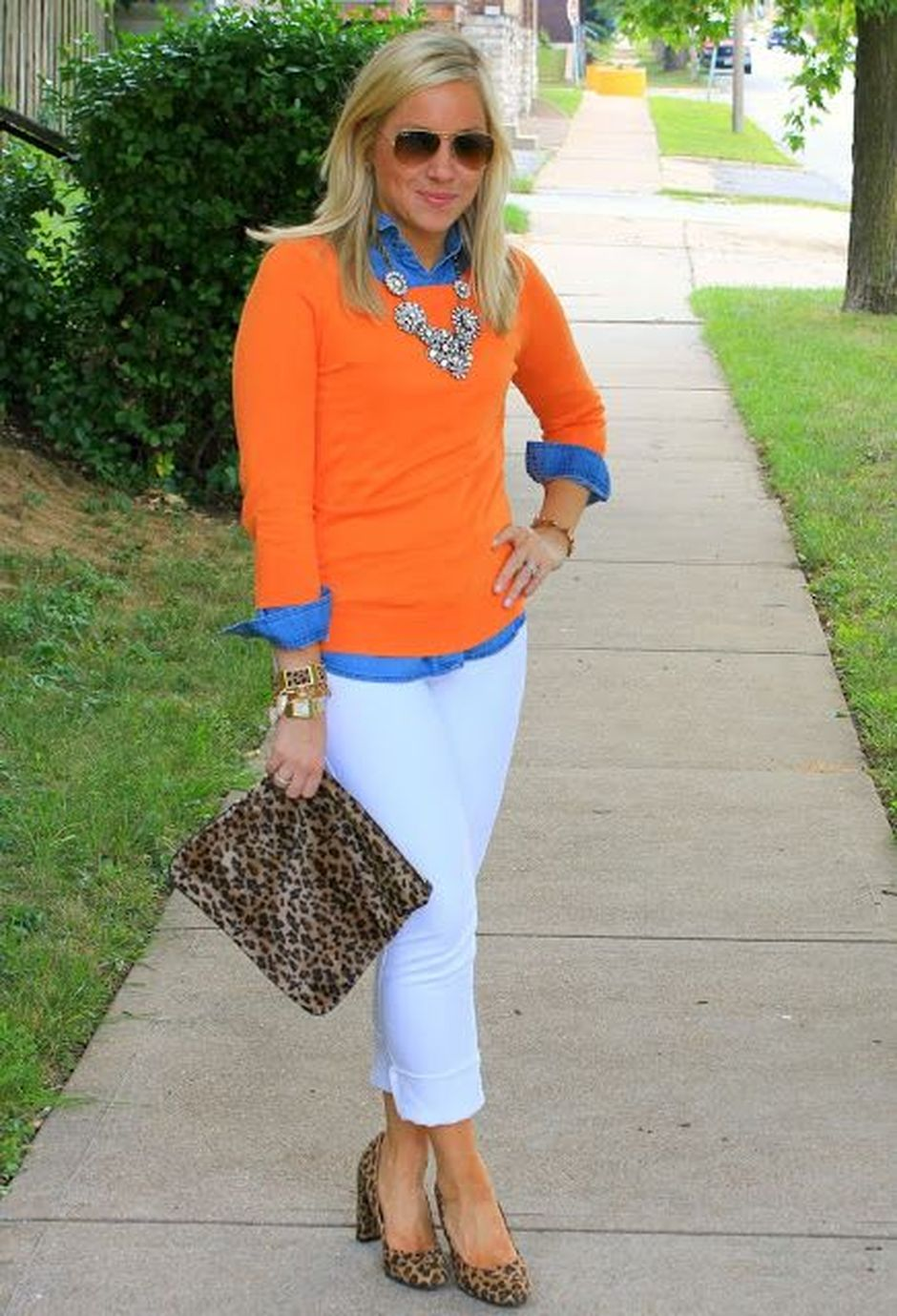 55 Orange Outfit Ideas That Make You Look Young and Fresh 47