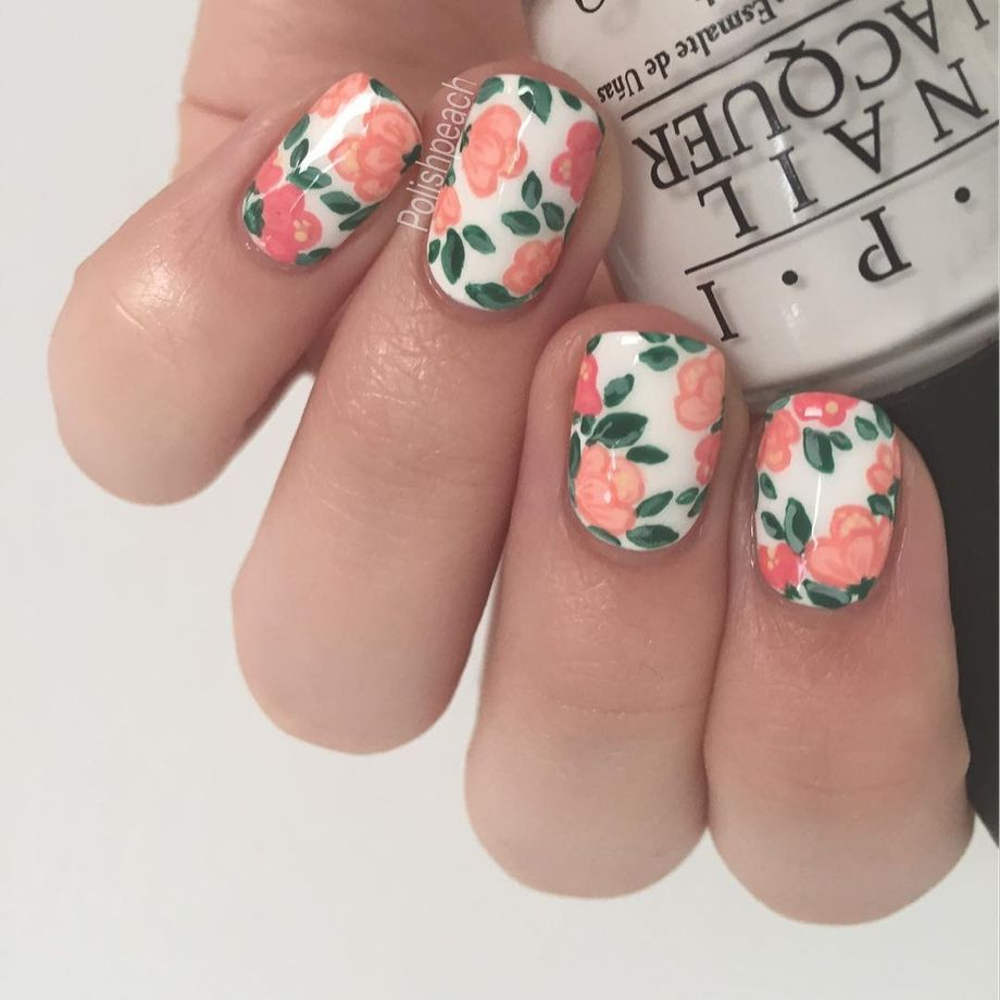 Awesome Floral Nails Design Ideas 2