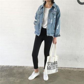 Denim Jacket Outfits Inspirations for Girl 2