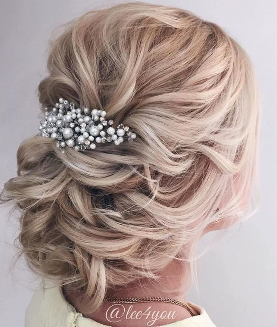 simpe but classy bridal hair do 21