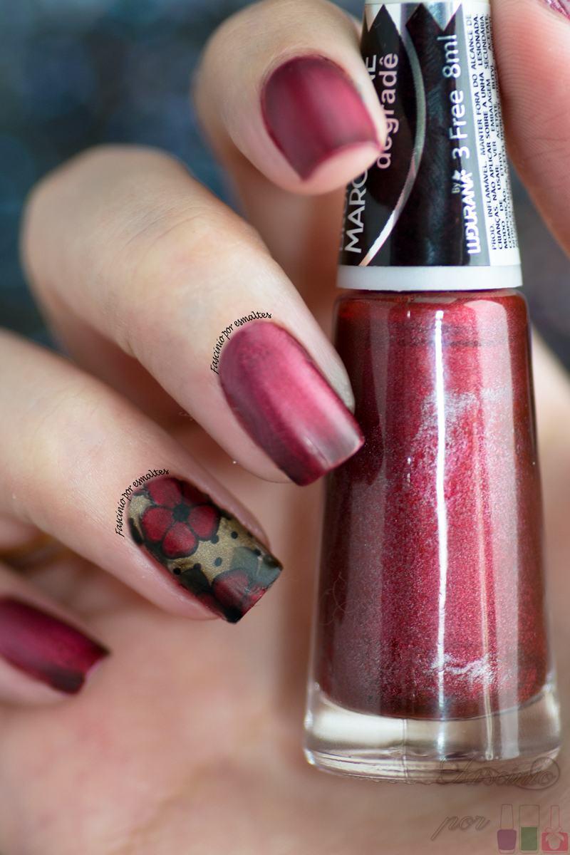 Cissi Película e Esmaltes - Flores Vermelha