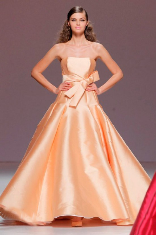 Pastel Orange Cymbeline Wedding Dress