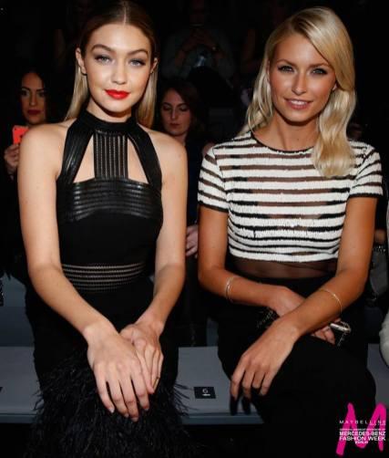 Topmodel Gigi Hadid neben Model Lena Gercke