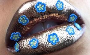 Vanessa Cisullo – Metallic flower glossy Lips