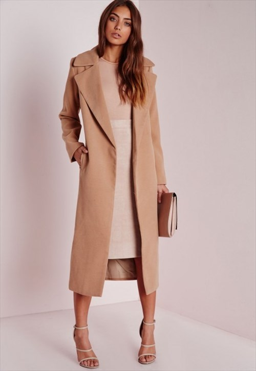 Oversized Camel Coat (Missguided)
