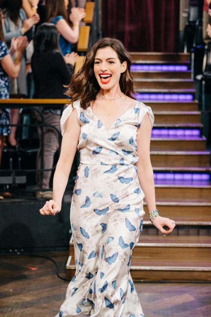 Mame Fashion Dictionary: Beccaria Anne Hathaway Wearing Luisa Beccaria