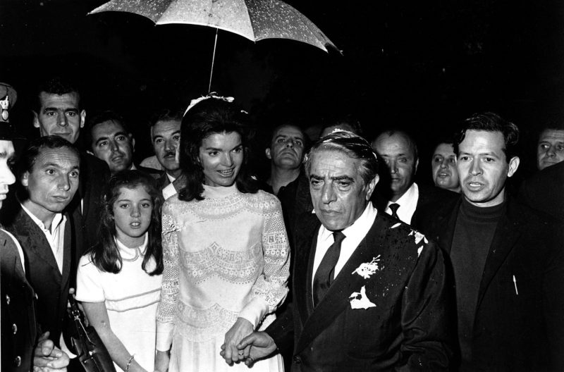 Mame Fashion Dictionary: Valentino Jackie Kennedy Wearing Valentino Dress when she Married Onassis in