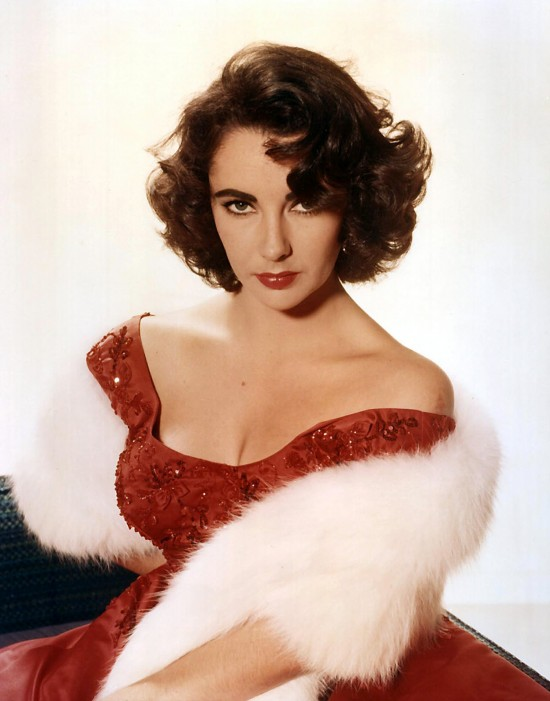 Elizabeth Taylor in Valentino Red Dress