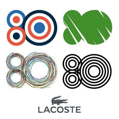 Lacoste 80th Anniversary Logo