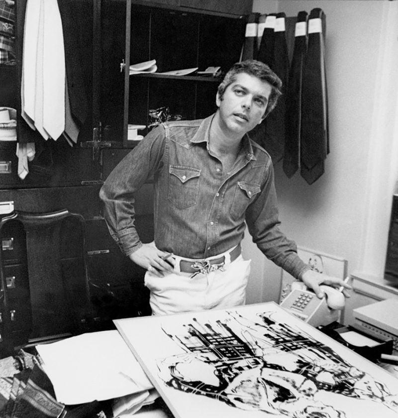 Mame Fashion Dictionary: Ralph Lauren 1971 Working is his Office