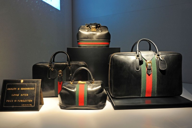 Gucci 1950s Luggage Green and Red Stripe