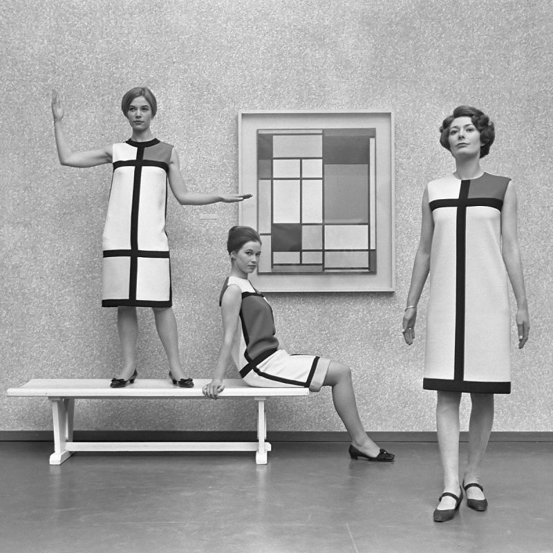 Yves Saint Laurent Mondrian Inspired Collection