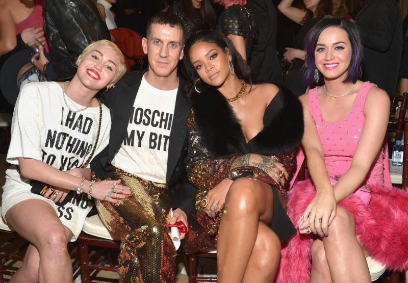 Jeremy Scott With Celebrities Wearing Moschino Collection