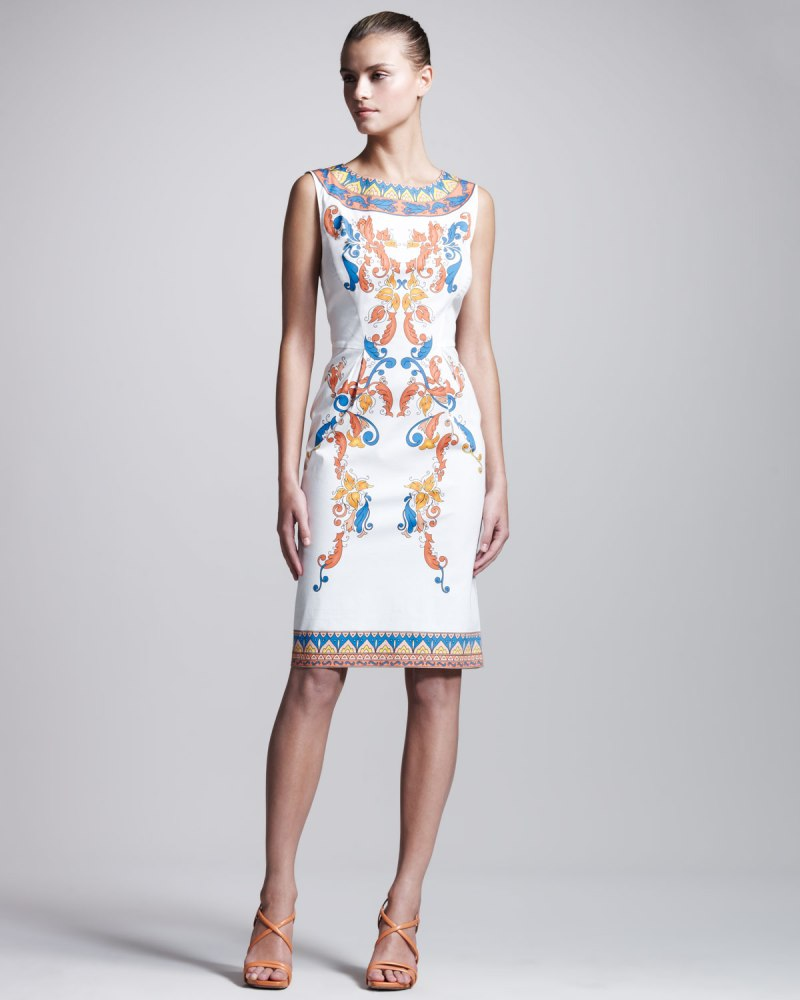 Philosophy di Alberta Ferretti White Printed Stretchpoplin DressMame Fashion Dictionary: Alberta Ferretti Philosophy di Alberta Ferretti White Printed Stretchpoplin Dress