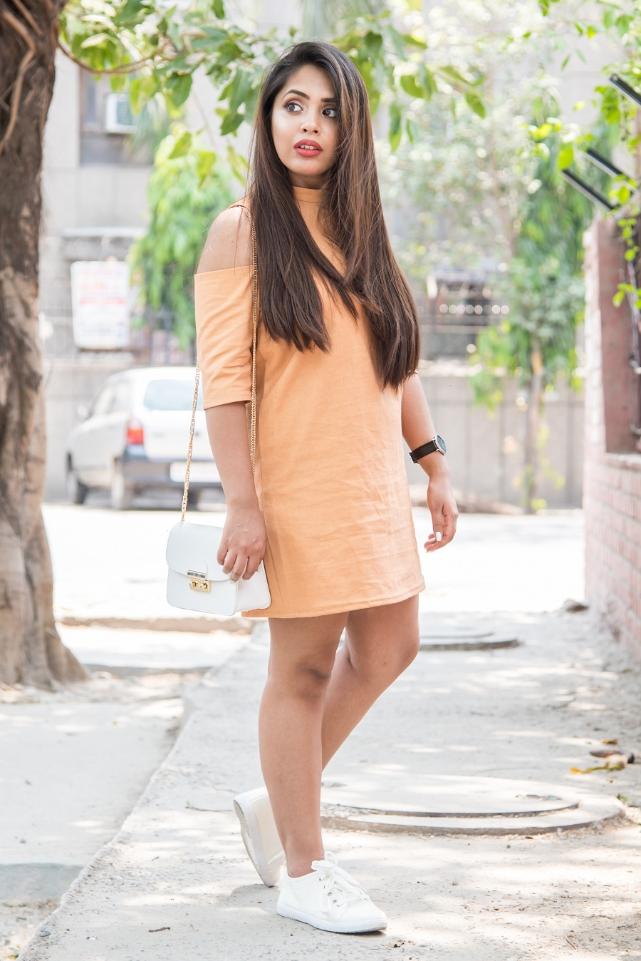 iimaima-lookbook-orange-shift-dress-indianfashionblog