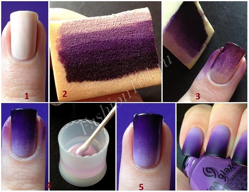 Как правильно наносится омбре на ногти. Как сделать омбре на ...