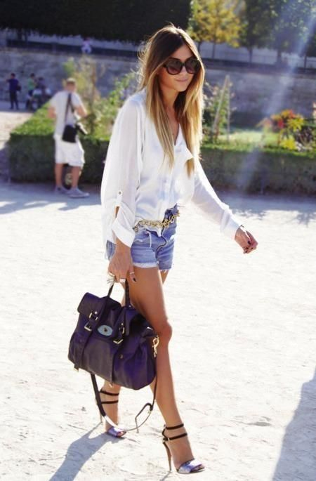 shorts and blouse