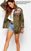 Asos - Milk It Vintage Festival Military Jacket in Camo with Embellishment £35.00