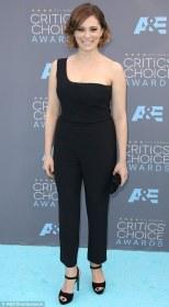 Rachel Bloom in Alexander McQueen jumpsuit