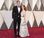 Isla Fisher in Marchesa dress and Sacha Baron Cohen