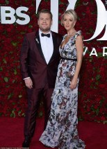 James Corden arrived with wife Julia Carey