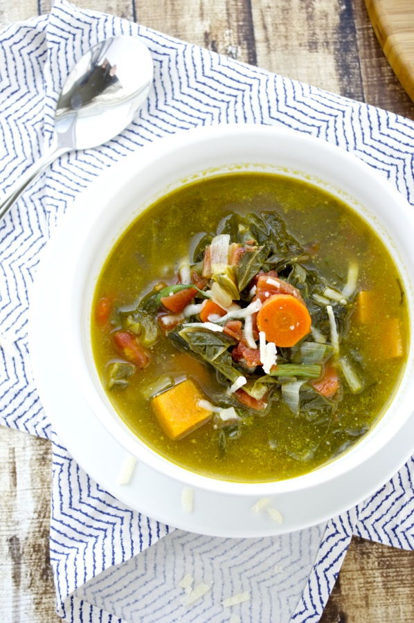Vegetable Soup Overhead