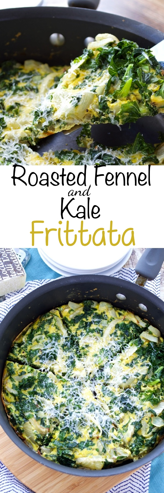 Roasted Fennel and Kale Frittata Pin