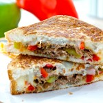 Cheesesteak Grilled Cheese