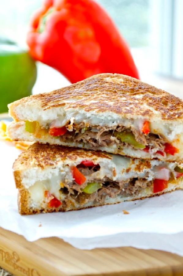 Gluten Free Cheesesteak Grilled Cheese