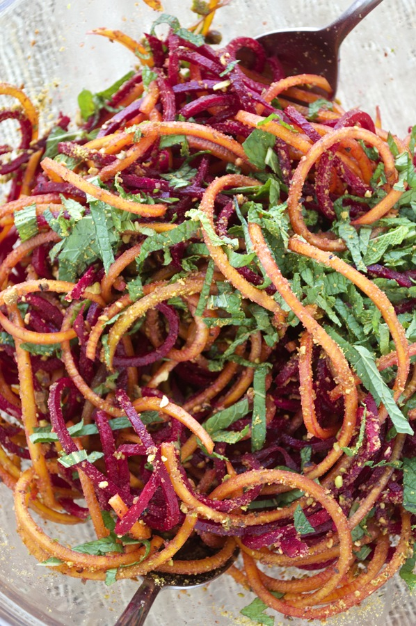 Spiralized Beet Noodles